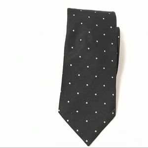 New Chavelier Men's Tie One Size Black Polka Dot